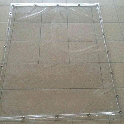 WTT transparant dekzeil, waterdichte dik PVC-zacht glas buitenregen-raam winddicht beschermend hal-balkon-waterdicht gordijn met perforatie (kleur: 0,5 mm, maat: 3x4M)