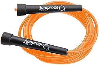 Springtouw Speed van JUMP ROPE SPORTS verstelbaar (zwart-oranje, 3,00 m)