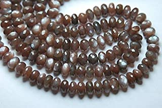 Jewel Beads Natural Beautiful jewellery 7 Inch Strand,Finest AAA Quality,Natural Chocolate MOONSTONE Rondelles,7-8mm sizeCode:- JBB-40769