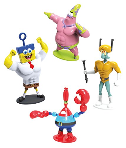 Simba 109490527 109490527-Spongebob Superhelden Figuren Set