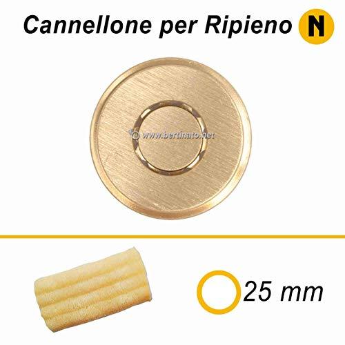 Trafila in bronzo per Pasta Cannellone per macchina pasta fresca professionale La Fattorina 1,5kg compatibile con FIMAR MPF 1,5