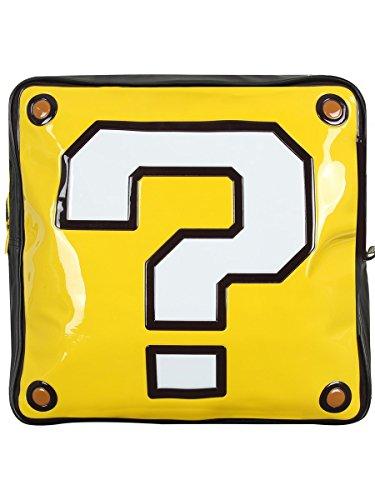 Biowarld Nintendo Super Mario Bros. Question Mark Box Geformter Rucksack, Schwarz (Bp990402Ntn) Lässiger Daypack, 37 cm, 10 L, Gelb