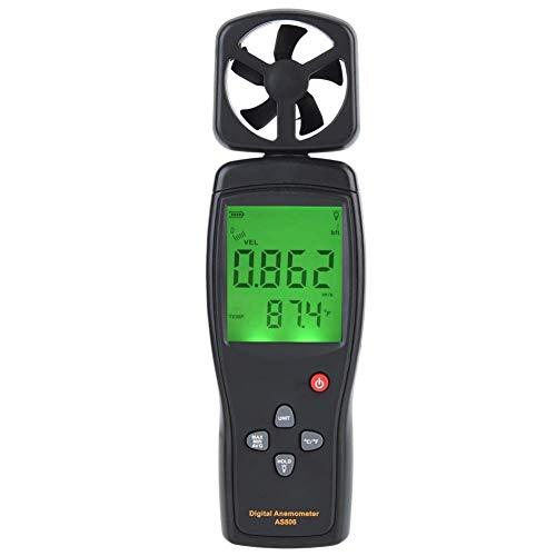 BIKEULTIMATE Windgeschwindigkeit Temperatur-Prüfvorrichtung, Anemometer Tragbarer Temperatur Wind Messgerät für Windgeschwindigkeit und Temperaturmessung