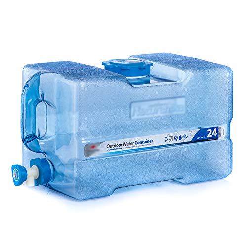 MNSSRN Cubo de Almacenamiento de Agua para automóviles al Aire Libre, Almacenamiento de Agua de Consumo de Agua con Grifo, Cubo portátil, para Acampar, Senderismo, Caza y excursiones a autónomo,24L