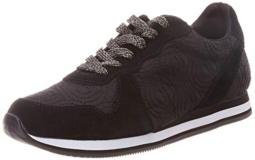 Desigual Damen Shoes Pegaso LOGOMANIA Sneaker, Schwarz (Negro 2000), 38 EU