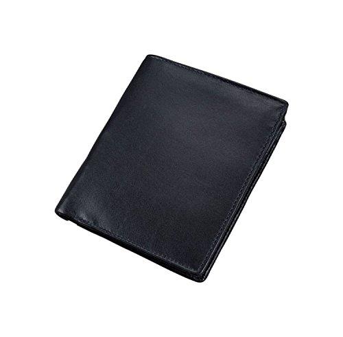 Alassio 42058 - Kombibörse mit RFID-Folie im Hochformat, aus hochwertigem Nappaleder, ca. 12,5 x 10 x 2 cm, schwarz