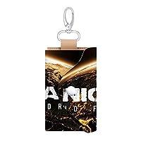 Nickelback 女性/男性革の鍵は財布を包んで、6枚のカードスロットの車のキーホルダーを持っています。