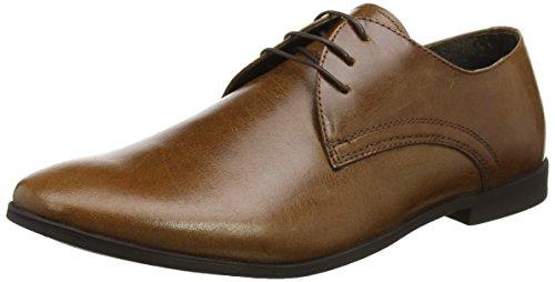New Look, Zapatos de Cordones Derby Hombre, Marrón (Dark Brown 27), 42