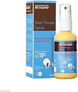 BETADINE Sore Throat Spray 50ml relief of sore throat and mouth ulcers