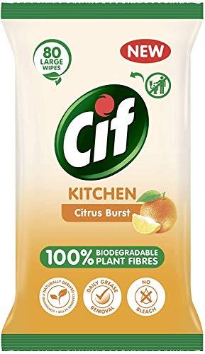 Cif Citrus Burst - Toallitas de cocina (390 g)