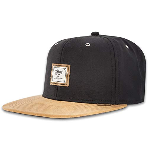 Djinns 10oz Canvas Black Basecap Snapback 6 Panel Kappe Herren Mens