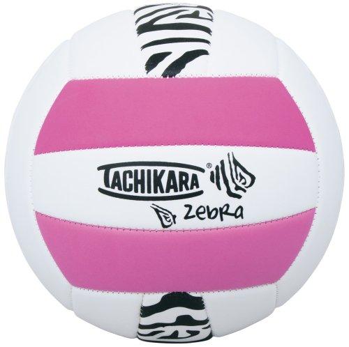 Tachikara Sof-Tec Zebra Pink/White Indoor/Outdoor Foam Backed Panel Volleyball