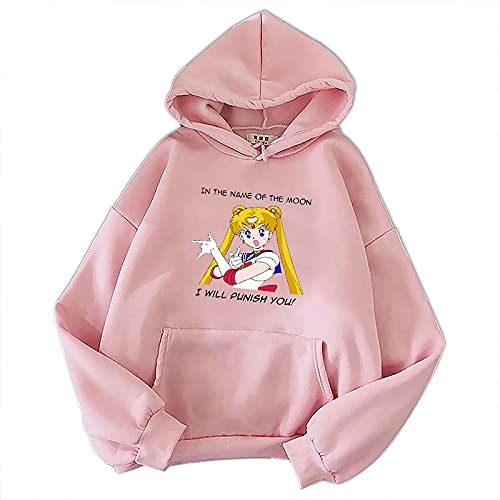 Westtrend Anime clásico japonés Sailor Moon Sudadera con Capucha de Manga Larga Jersey Suelto de Moda Sudadera acogedora...