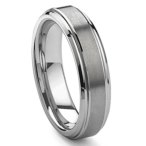 MFC 6MM Tungsten Carbide Wedding Band Ring Brushed Center Sz 16.0