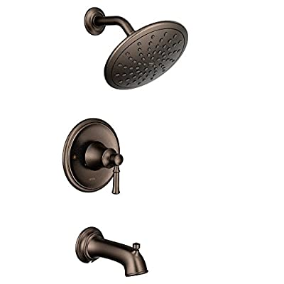 Moen T2283EPORB Dartmoor Tub Shower Faucet System with Rainshower Showerhead without Valve, Oil Rubbed Bronze