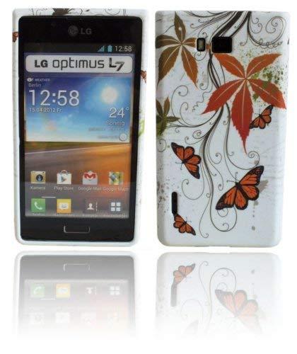 ENERGMiX Silikon Hülle kompatibel mit LG Optimus L7 P700 Motiv Schutzhülle TPU Schale Tasche Silikon Design # Butterfly
