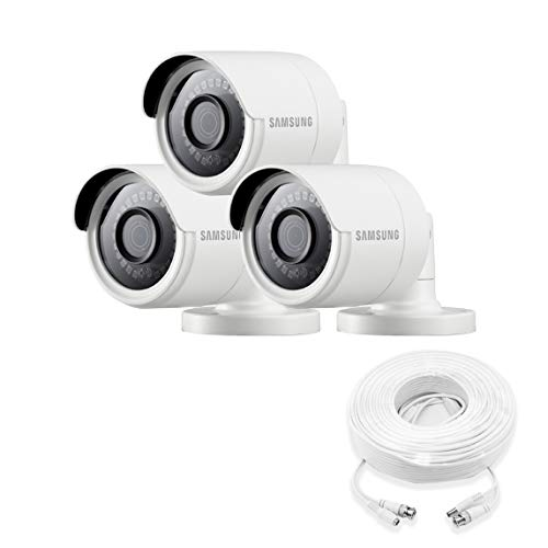 Samsung Wisenet SDC-89440BB-3PK - 4MP Weatherproof Bullet Camera (3-Pack) Compatible with...