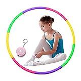 Aros de Hula para niños, Todos Hacen Multicolor Niños pequeños Hula Hoop Desmontable Deportes Niños y niñas para Danza/Gimnasio/Fitness