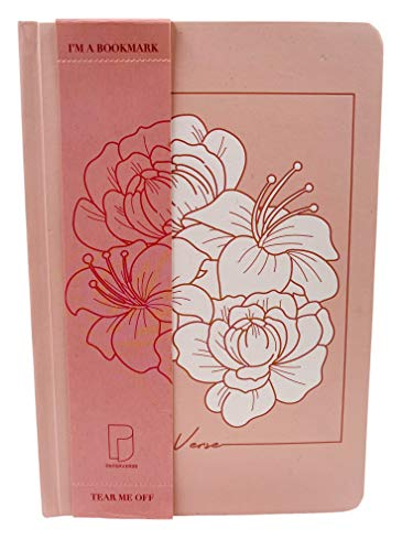 Pink Embossed Flower Journal For Women & Teens, Hardcover Ruled Notebook, Thick 100gsm Acid-free Paper, A5 Lined 192 Pages, from Paperverse