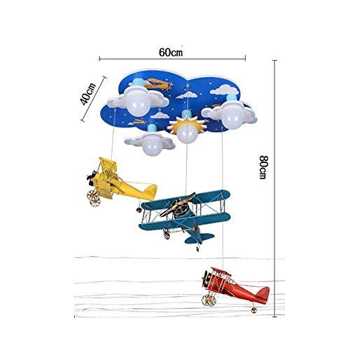 PU-plafondlamp, led-pvc, retro vliegtuigen, creatieve wolken, oogbescherming, plafondlampen, kinderslaapkamer, plafondlampen