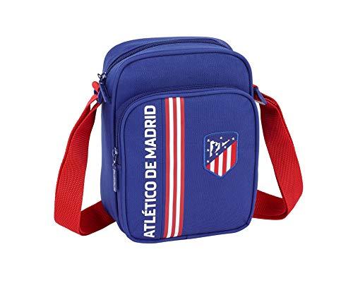 """Atlético de Madrid """"In Blue"""" Oficial Bandolera Con Bolsillo Exterior 160x60x220mm"""
