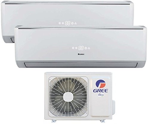 Climatizzatore INVERTER DUAL SPLIT LOMO 9000 + 12000 BTU (U.E.18) GREE CLASSE A++/A+
