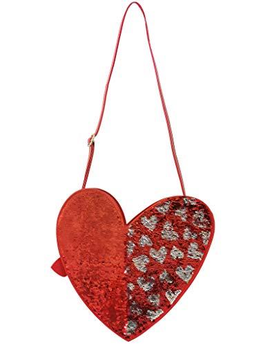 Agatha Ruiz de la Prada Umhängetasche für Damen, große Formen, wendbar, mit Pailletten, Rot - rot - Größe: Einheitsgröße