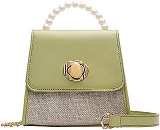 TOOGOO Summer Pearl Small Bag Female New Wild Small Fresh Shoulder Messenger Bag Chain Mobile Phone Bag White