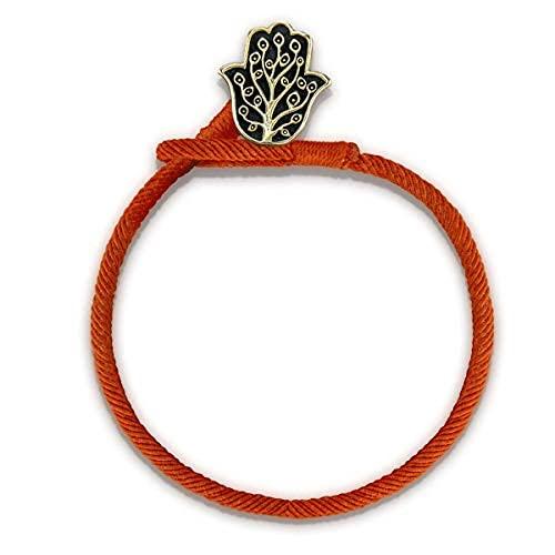 Pulsera de cuerda roja con encanto Hamsa de protección positiva