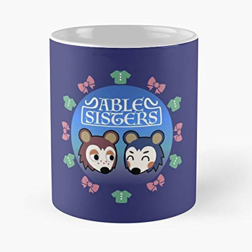 The and Mabel Animal Acnl Able Mable Crossing Sisters Sable Best 11oz Taza de café de cerámica Personalizar