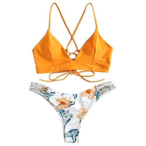CheChury Mujer Sexy Conjunto De Bikini Verano Sexy Push Up Ropa De Playa Bikini de...