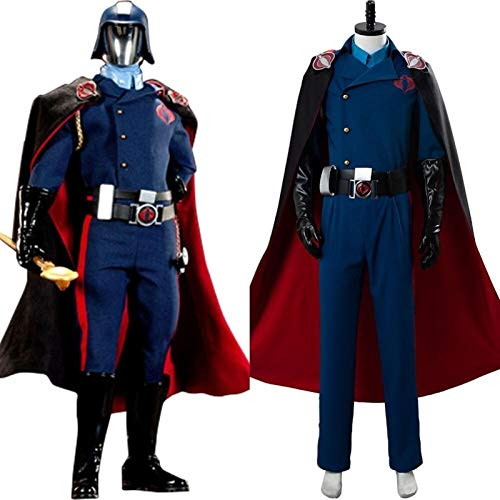 S.Y.MMYS JoeThe Rise of Cobra Commander Cosplay Costume Suit Cape for Adult Men Women Halloween Carnival Costumes (Color : Male, Size : XS)