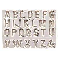 シリコーンフォンダンモールドDIYアルファベットチョコレートケーキベーキングツール