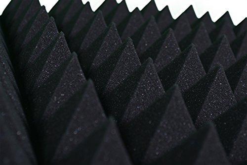 Pannelli Fonoassorbenti Piramidali Correzione Acustica 50x50x6 D30 Grigio Antracite Pacco da 40