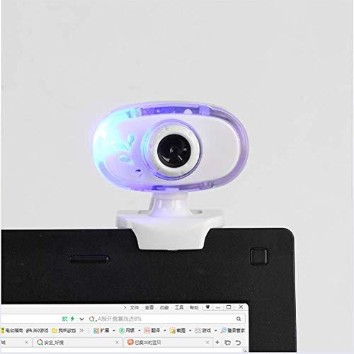 Yanghao Web-Kamera, Webcam, Autofokus, Mit LED-Leuchten, Für Windows 2000 / XP/Verwandte / Win8 / Vista 32 Bit,Weiß