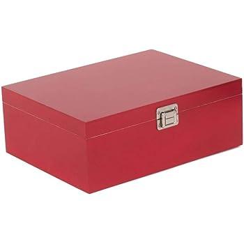 Red Hamper 36cm Caja de Almacenamiento de Madera roja: Amazon.es: Hogar