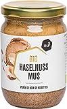 nu3 - Puré de avellanas Bio | 250g en tarro de vidrio | Mantequilla de calidad sin sal, azúcar o aceite adicionales | Delicioso sabor de nueces naturales | Certificado de agricultura controlada