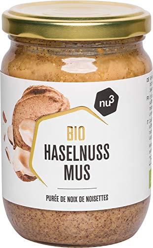 nu3 Purée de Noisettes Bio 250g - Noisettes de qualité crue sans sel, sucre ou huile ajoutés - Délicieuse purée de noisettes naturelles - Certifiée provenant de l'agriculture biologique contrôlée