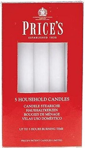 Price's Candles Candles, White, 2 l x 2 w x 15 h centimeters