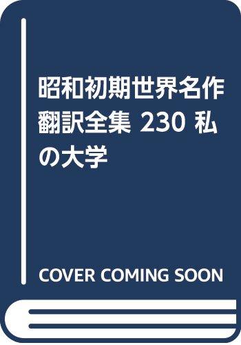 昭和初期世界名作翻訳全集 230 私の大学の詳細を見る