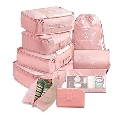 Organizador Bolsos De Mujer 9 piezas conjunto viajes organizador bolsas de almacenamiento maleta embalaje conjunto de cajas de almacenamiento portátil equipaje organizador ropa zapato ordenado Organiz