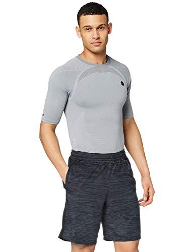 Under Armour UA MK-1 Twist Shorts Transpirable, Pantalones Cortos Deportivos, Hombre, (Black/Stealth Gray (001), L