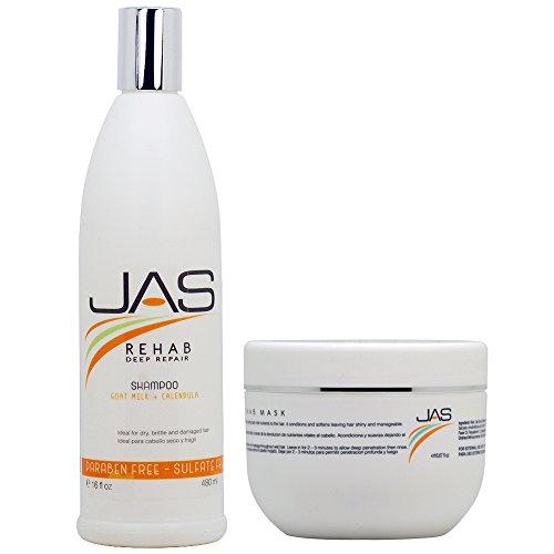 JAS Rehab Deep Repair Shampoo + Mask 16oz