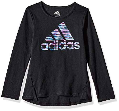 adidas Girls Little Long Sleeve Logo Tee