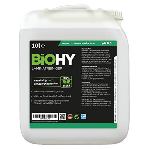 BiOHY Limpiador de laminados (Bote de 10 litros) | en una combinación especialmente adaptada de tensioactivos reduce la suciedad (Laminatreiniger)