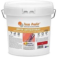 IMPER ANTIGOTERAS de Tecno Prodist - (5 Kg) ROJO Pintura Impermeabilizante elástica para Terrazas (A Rodillo o brocha)