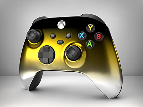 Black / Gold / Silver Chrome Special Edition Custom Microsoft Xbox Wireless Controller for Xbox One, Series S X, PC (With 3.5 Headset Port)