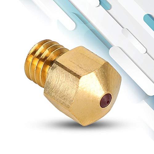 【𝐎𝐟𝐞𝐫𝐭𝐚𝐬 𝐝𝐞 𝐁𝐥𝐚𝐜𝐤 𝐅𝐫𝐢𝐝𝐚𝒚】Boquilla de rubí del extrusor, piezas de impresora 3D Creality de 0,4 mm Accesorios de impresora 3D duraderos de latón, para impresora 3D(ruby)