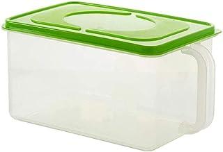 AWAING Bocaux Ensemble 2 pièces céréales des contenants de stockage de conteneurs en plastique Joint de cuisine Grain boît...