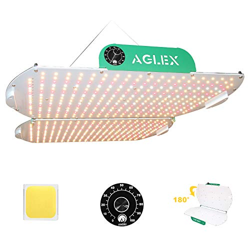 AGLEX Newest K4000 LED Plant Grow Light Dimmable Sunlike Full Spectrum with 3030 LEDs & IP65 Waterproof Driver Zero Noise Grow Lamp for Hydroponic Indoor Plant Seeding Veg and Bloom